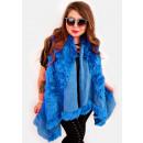 wholesale Coats & Jackets: EM16 Fur Jacket, Vest, Poncho, Blue