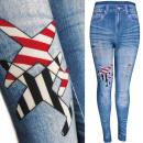 4477 Spring Leggins Jeans, Overprints & Holes