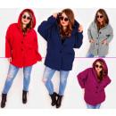 EM28 Damen Plus Size Jacke, Kimono, Boucle MIX