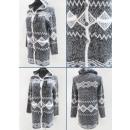 K61 Trendy Cardigan, pull femme, motif aztèque