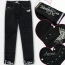 grossiste Vetement et accessoires: A19213 Pantalons jeans pour filles, 6-14 ans
