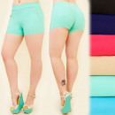 wholesale Shorts: FL463 Plus Size  Shorts, Golden Sliders, Summer Col