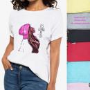 mayorista Ropa / Zapatos y Accesorios: Blusa de algodón, camisa de mujer, niña S-XL 6057