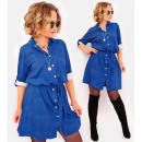 A1017 Jeans Dress, Ocersize Tunic, A Set with Belt