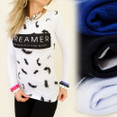 Großhandel Hemden & Blusen: K205 TOP, BLOUSE,  LOVELY FEATHERS, PRINT DREAMER