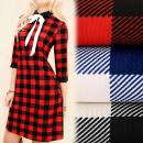 Großhandel Kleider: BI573 Elegantes Kleid, Kragen, Muster: Gitter