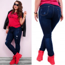 wholesale Jeanswear: B16656 Jeans,  Beautiful Hole Pants, Plus Size