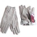 Großhandel Handschuhe: Wollhandschuhe für Damen, Farbe Grau SL, 5817