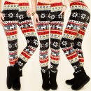 4011 NICE MATS  Leggings, reindeer and snowflakes