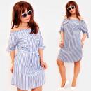 Großhandel Kleider: BI811 Romantisches Frauenkleid mit Schleifen, Baum