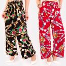 grossiste Vetement et accessoires: C17680 Pantalon ample femme, motif bijou