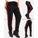 C17540 Damen Sweatpants, Sportliche Hose mit Strei