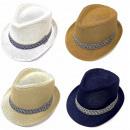 nagyker Ruha és kiegészítők: Nyári strand kalap, sapka, szalaggal, A18103