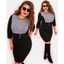 hurtownia Fashion & Moda: 4403 Elegancka Ołówkowa Sukienka, Koniczynki