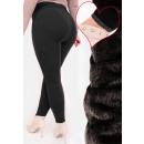 4383 Bamboo Leggings With Fur, High Waist