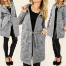 C24129 kabát, kabát, ruha kapucnival