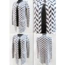K66 Elegante Strickjacke, Pullover, geometrisches