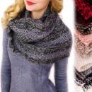 grossiste Vetement et accessoires: B10A49 Cheminée, écharpe tricotée, bretelles subti