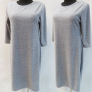 Großhandel Kleider: D4014 Kleid, Made In Poland, 44-52, Grau