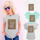 hurtownia Fashion & Moda: K618 Bawełniany T-shirt, Top, Animal Love