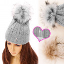 Großhandel Kopfbedeckung: FL658 Insulated Frauen-Fell Pompon