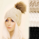 wholesale Headgear: 4169 Women's hat, insulated with Fleece, Pompo