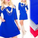 Großhandel Kleider: C24166 Romantisches Kleid mit einem Kragen