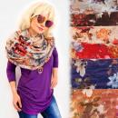 wholesale Scarves & Shawls: FL702 Spring Chimney, Large Scarf Pattern: ...
