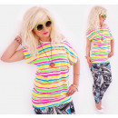 wholesale Shirts & Blouses: 4521 Cotton Shirt, Blouse, Candy Stripes