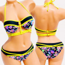 wholesale Swimwear: 4625 Women Swimsuit, Straps, Folk Pattern