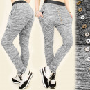 wholesale Sports & Leisure: 4031 LOOSE, GRAY BAGGY TROUSERS, SILVER BUTTONS