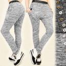 groothandel Sportkleding: 4031 LOSSE, sport  broek, FLODDERIGE, zilveren knop