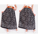 wholesale Skirts: C17505 Long Skirt, Wide Belt with Gold Decoration