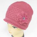 Großhandel Fashion & Accessoires: CZ09 Warmer Damenhut, Mütze mit Blume & ...