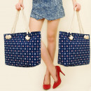 grossiste Bagages et articles de voyage: T33 STOPS SHOPPER BAG, SAILOR MOTIVES
