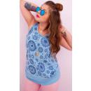 Großhandel Hemden & Blusen: D1445 Plus Size Shirt, Riemen, natürliches Gewebe