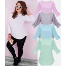 grossiste Vetement et accessoires: Tunique oversize blouse taille plus N027, classiqu