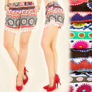 wholesale Shorts: FL503 Summer,  Light Shorts, Boho Style, Fringe