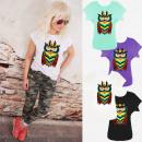 mayorista Ropa / Zapatos y Accesorios: Camisa de mujer con estampado, SL, búho multicolor