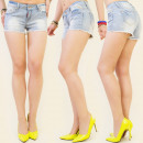 wholesale Shorts: B16333 JEANS  SHORTS, JEANS LIGHT MIX