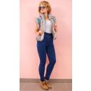4347 Leggings Jeans, Plus Size, Bamboo, Light Stit