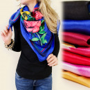 FL128 SPRING scarf MODEL In FLOWERS MIX