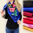 FL128 SPRING sjaal MODEL In BLOEMEN MIX