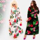 Großhandel Kleider: C17542 Langes Kleid, Übergröße, Chic Tropics