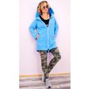 C24232 Klasszikus női kapucnis kabát, kabát