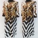 Großhandel Kleider: D4056 Kleid, Made in Poland, Plus Size 44-52