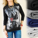 Großhandel Fashion & Accessoires: K226 FASHION SWEATSHIRT, HERZ DER MODE, DŻETY
