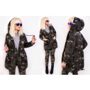 wholesale Coats & Jackets: BI690 Women  Jacket, Oversize, Hood, Military Moro