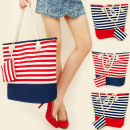 wholesale Handbags: T30 Adorable Stripe Bag + Sachet, Sea Side Set