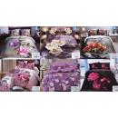 Großhandel Bettwäsche & Matratzen: Bettwäsche-Set, 160x200, 3 Teile, Blumen, Z137